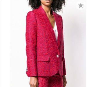 Zadig & Voltaire red leopard blazer